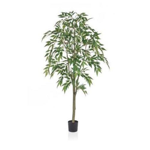 Artificial Silk Ficus Benjamin Tree - 150cm, Green