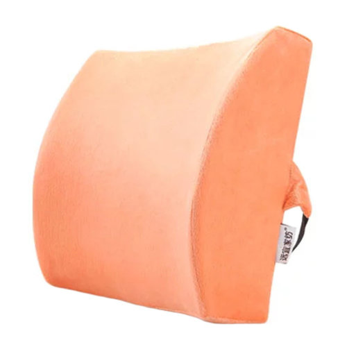 Lumbar Support Back Cushion Pillow Backrest for Home/Office/Car Seat - Orange