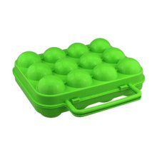 Kitchen Plastic Egg Storage Boxes Eggs Holder Eggs Trays 12 Grid Green