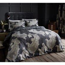 Paisley Crescent grey cotton blend duvet cover