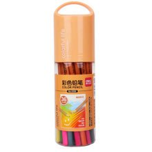 Brightly Assorted Colors Pencils, Oily Wood Colored Pencil, 36 Count, Orange