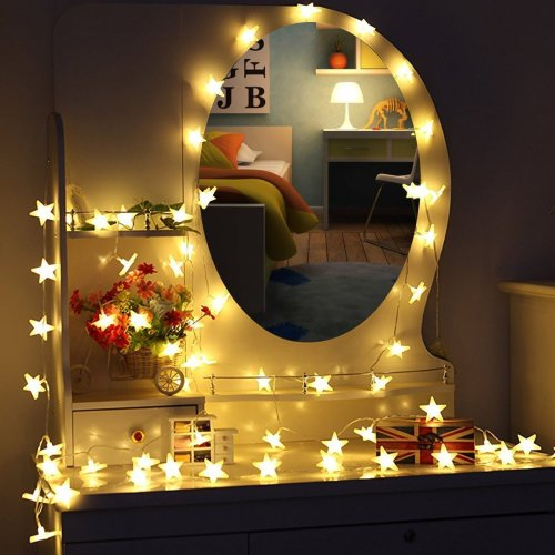 Moveonstep Stars String Lights 30 Led Battery Operated Fairy Light 4 5m Party Garden Christmas Holiday Wedding Decoration Indoor Outdoor On