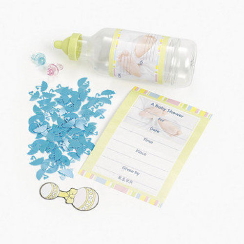 Baby Shower invitation in A Bottle