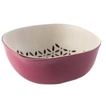 Creative Living Room Fruit-Plate Kitchen Vegetable Plate Drain Basket[A]