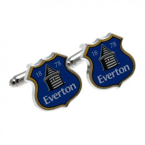 Everton Cufflinks - Crest Design - Chrome Cuff links