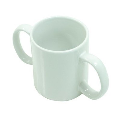Two Handled Ceramic Mug - Two handled adult drinking aid