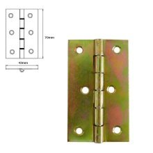1 Pcs Folding Closet Cabinet Door Butt Hinge Brass Plated 70x43mm