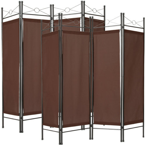 2 room dividers paravent brown