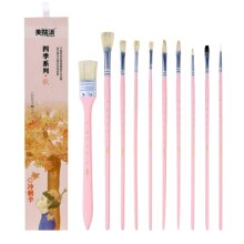 10 Pieces Paint Brushes Set Artist Paint Brushes Painting Supplies #05