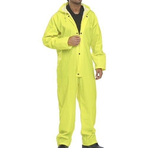 Click NBDCSYL Nylon Waterproof Coverall With Hood Satin Yellow Large