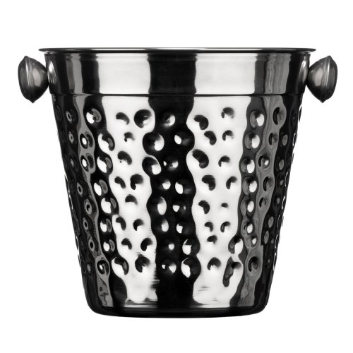 Hammered Stainless Steel Ice Bucket