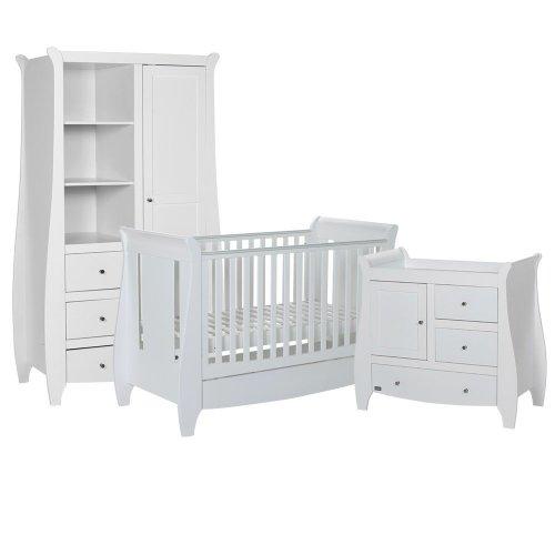 Tutti Bambini 3 Piece Lucas Sleigh Room Set in White