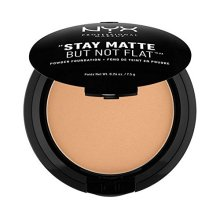 NYX PROFESSIONAL MAKEUP Stay Matte but not Flat Powder Foundation, Caramel, 0.26 Ounce