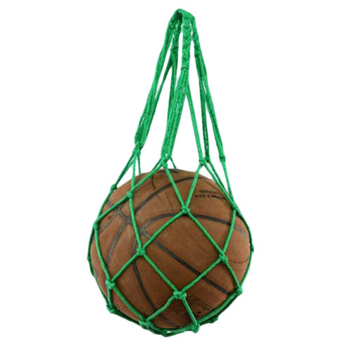 Green Basketball Grid Net Bag Fashion Volleyball Mesh Bag Storage