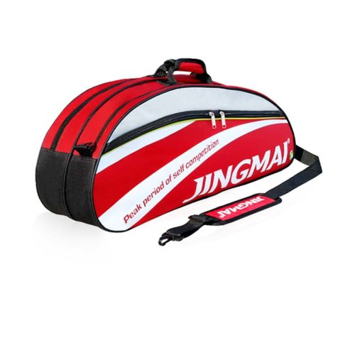 Single Shoulder Waterproof And Dustproof Racket Bag 6 Racquet Bag,Red