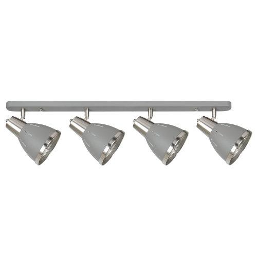 HOMCOM Industrial Adjustable 4 Light Wall Lamp SpotlightE27 Socket Grey