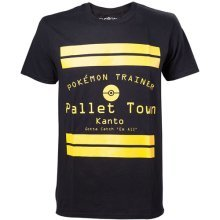 Pokemon Pallet Town Kanto Mens T-Shirt XL Black Model. TS408064POK-XL