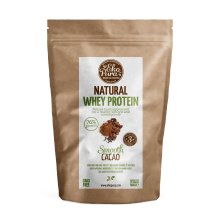 Natural Whey Protein - Cacao - 76% Protein, Organic Whey - 500g