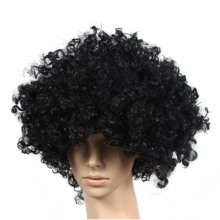 Set of 2 Halloween Costume Party Wigs Clown Hair, Black