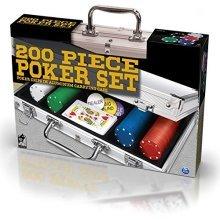 * Spin Master - 200 Poker Chips - Aluminium Case (cdl01389) - Set Cdl6036777 -  poker aluminium case spin master set cdl6036777 200 chi ps cdl01389