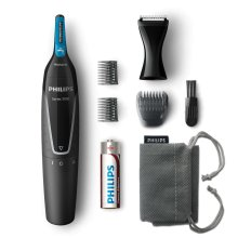 Philips NT5171/15 Battery Operated Nose, Ear, Eyebrows & Siderburns Trimmer