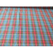 "Tartan - Blue / Red - 100% Cotton Fabric by the metre 44"" / 112cm wide"