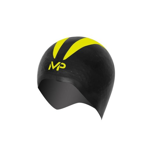 MP Michael Phelps Unisex's X-O Swimming Cap, Black/Yellow, Large