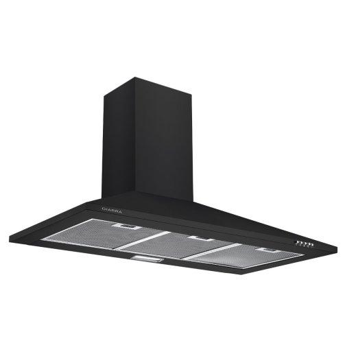CIARRA 90cm Black Chimney Cooker Hood 900mm Range Hood Kitchen Extractor Fan