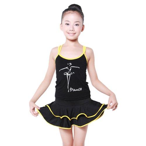 Dance Supplies Latin Dance Dress YELLOW, 90-100CM Height