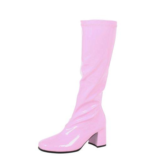 Krista Womens Mid Block Heel Knee High Boots