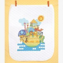 D70-74065 - Dimensions Stamped X Stitch - Quilt: Noah's Animals