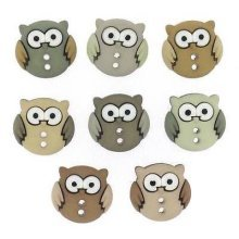 Sew Cute Owls - Novelty Craft Buttons & Embellishments by Dress It Up