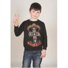 9-11 Years Black Children's Guns N' Roses Appetite For Destruction Sweatshirt -