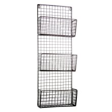 Wall-Mounted Wire Storage Rack | Metal Wall Crate