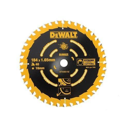 DeWalt DT10303-QZ Circular Saw Blade 184mm x 16mm x 40 Teeth Corded Extreme Framing