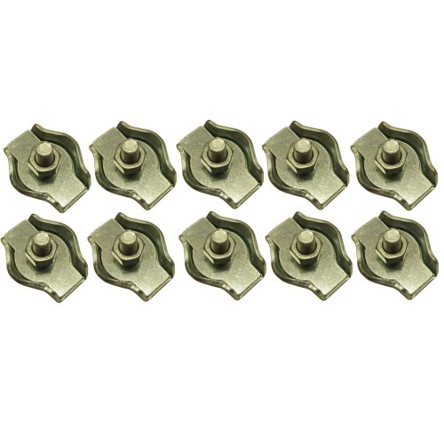 6mm Simplex Wire Rope / Cable Clamp Grips 10 PACK DK28