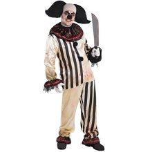 Halloween Circus Freakshow Clown Adult Suit -