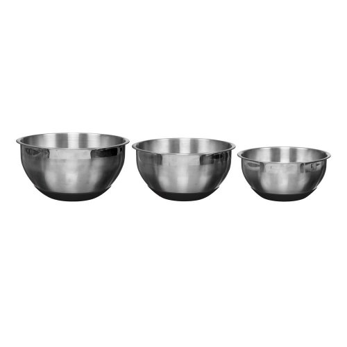 Easy Make KP5270 3 Stainless Steel Baker Bowls/Red/Grey/Black