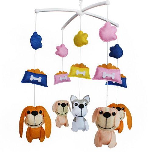 Baby Boy & Girl Bedding Rattle Toy, Crib Mobile [Pet Dog]
