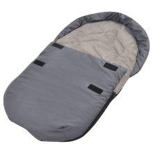 vidaXL Footmuff/Bunting Bag for Baby Carrier/Car Seat 75x40 cm Grey