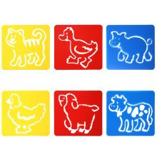 6PC Assorted Animal Drawing Stencil Templates for Scrapbooking Card Making TRIXES