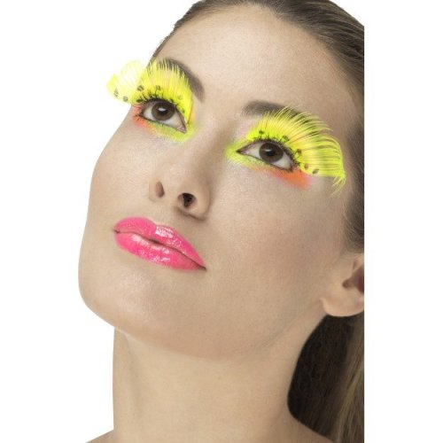 Smiffy's 48094 80's Polka Dot Eyelashes (one Size) -  ladies 80s eyelashes adults disco party fancy dress accessory 70s fake