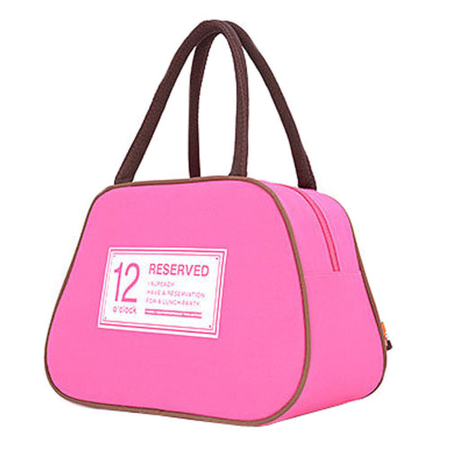Fashion Lunch Tote Bag Traveling Camping Working Lunch Bag,Rose Red