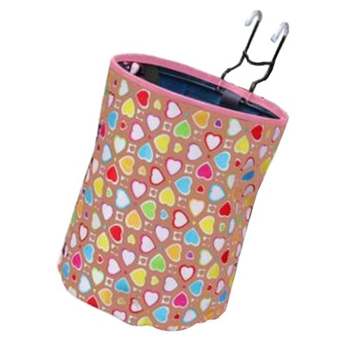 [Heart-2] Waterproof Canvas Bicycle Basket Foldable Basket for Bike