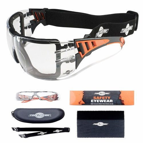 ToolFreak-Rip Out | Safety Glasses with Clear Lens That Can Also Be Worn As Protective Safety Goggles for Work, Sport and Activity | Eye protection...