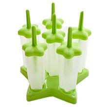"Creative Pentagram Ice-Cream Molds No Spill Square DIY Tray 6.2"" GREEN"