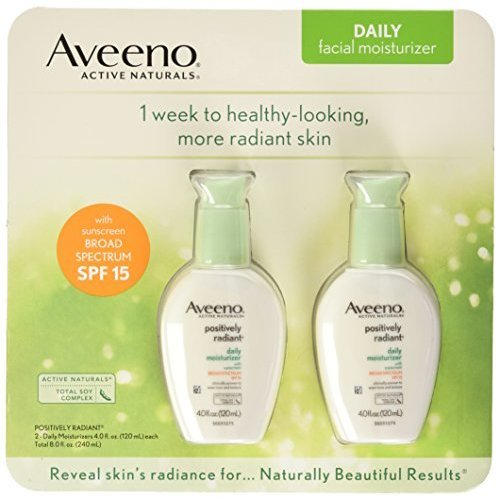 Aveeno ositively Radiant Skin Daily Moisturizer SF 15 4 Ounce (ack of 2)