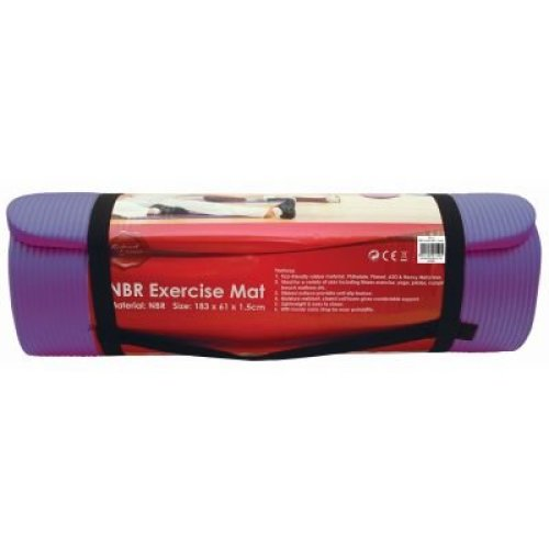181 X 61 X 1.5cm Nbr Exercise Mat - Purple - Yoga Gym Thick Fitness Physio -  nbr mat exercise purple yoga gym thick fitness physio pilates soft mats