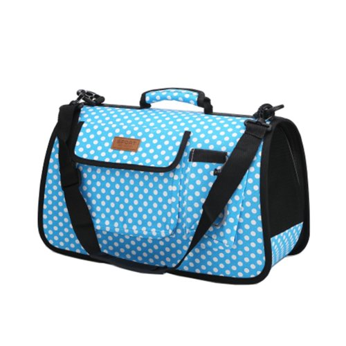 Pet Carrier Soft Sided Travel Bag for Small dogs & cats- Airline Approved, Blue#53
