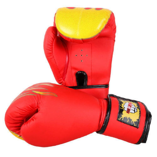 Premium Boxing Gloves MMA Muay Thai Training  for Fighters - Flame Red